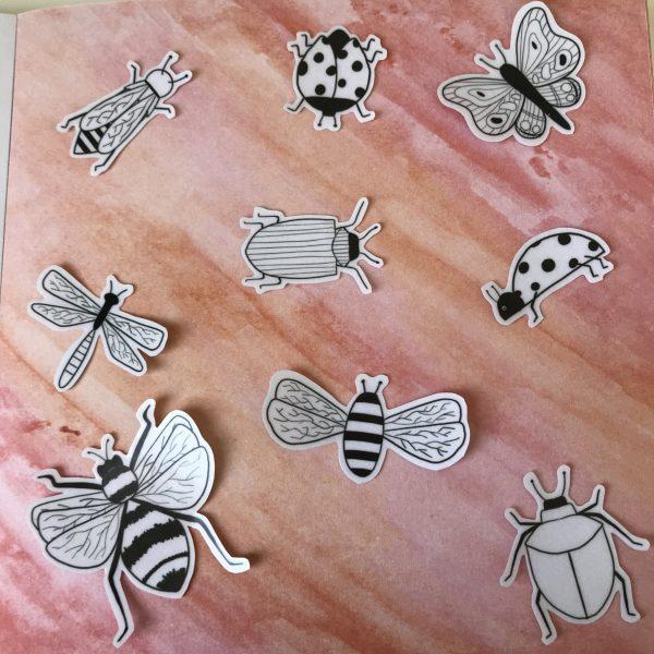 Doorzichtige insecten stickers