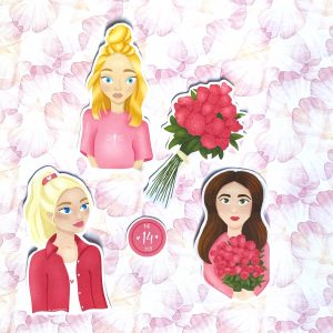 Valentijn stickers bujo